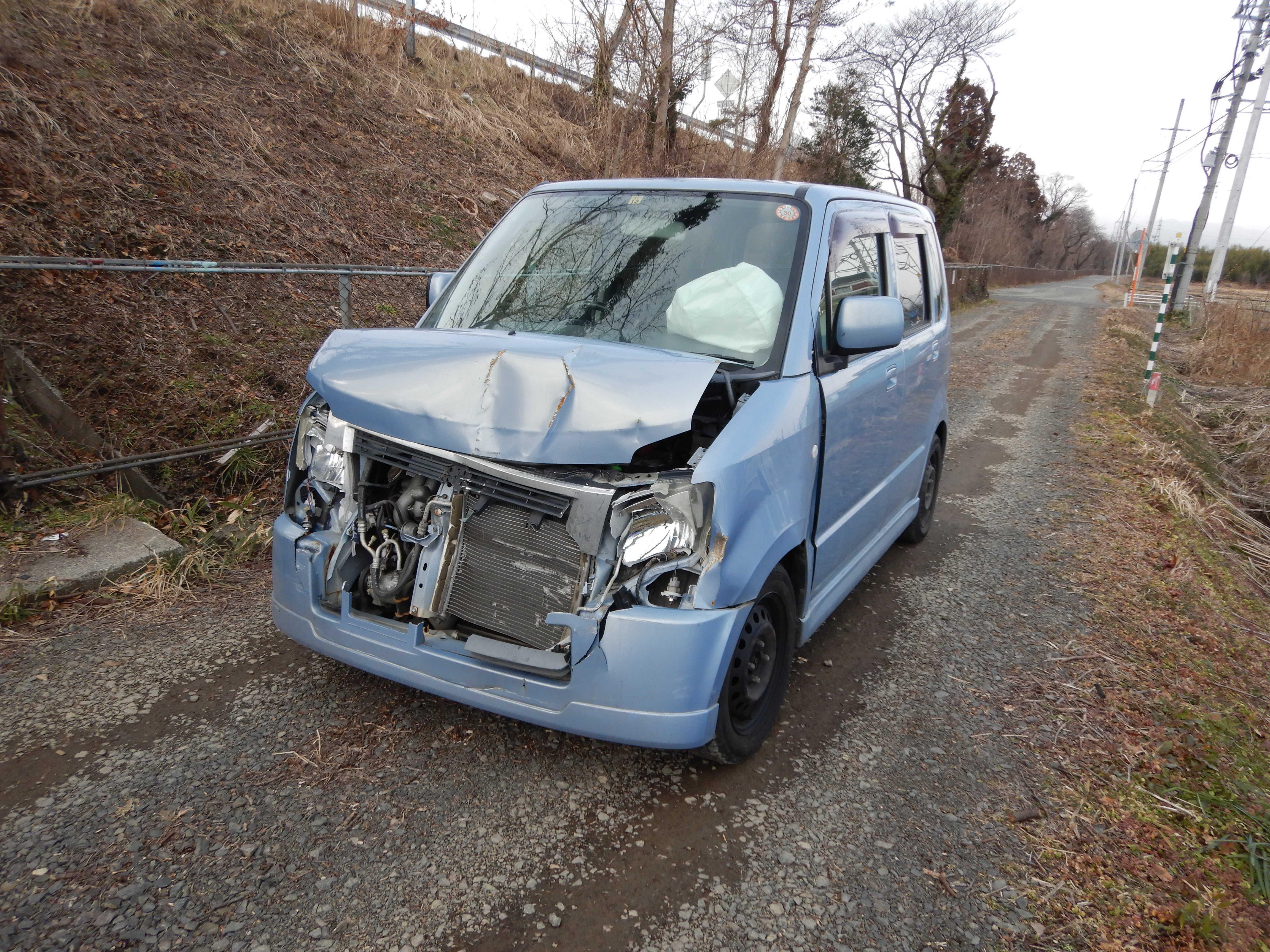 スズキ ワゴンRリミテッド 廃車 解体車 事故現状車