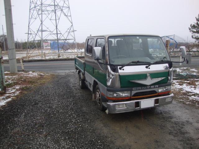 三菱 キャンターWキャブ 廃車 解体車 輸出向け車両 トラック