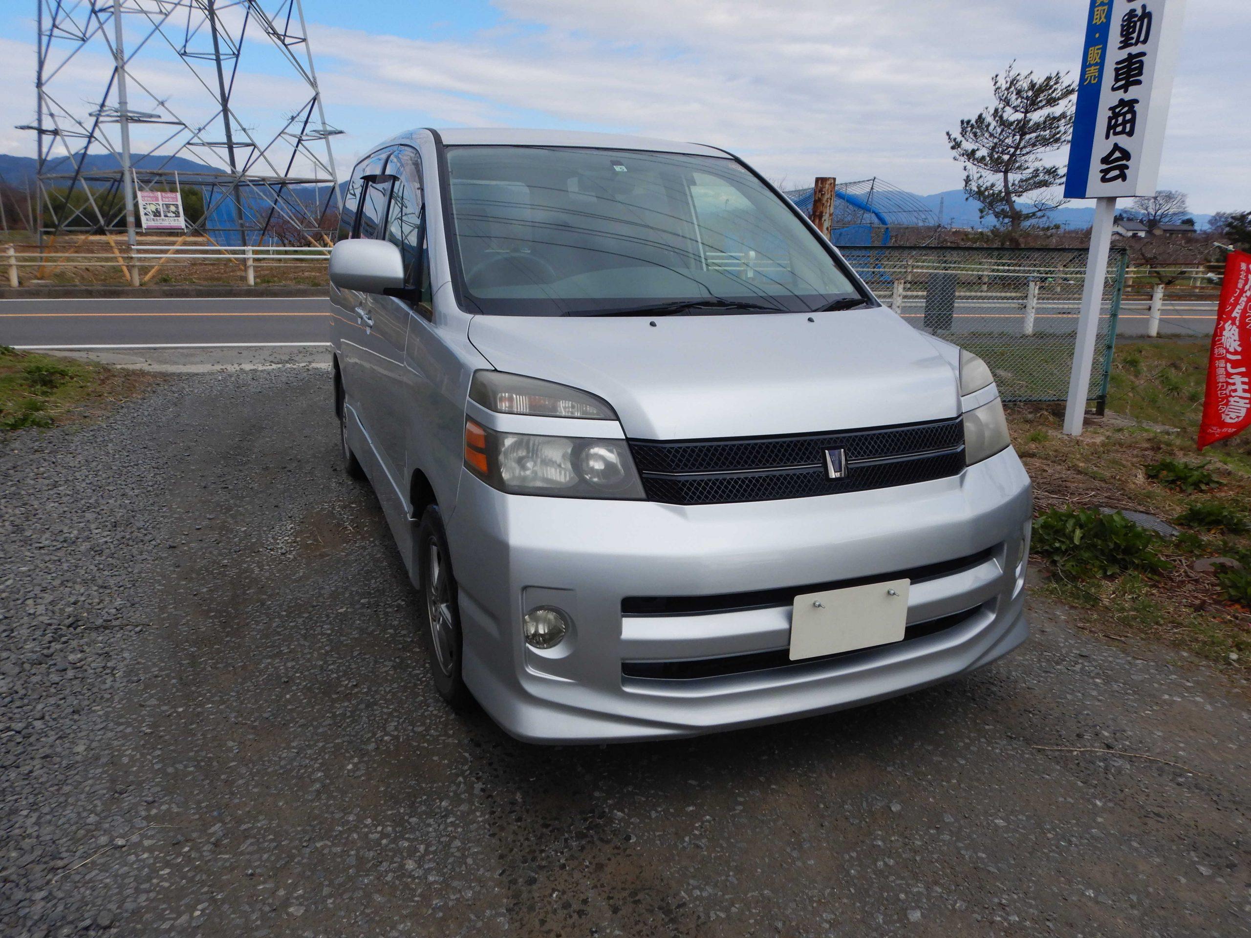 福島市 トヨタ ヴォクシー 廃車 解体車 輸出向け車両